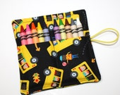 CUSTOM 20 School Bus Party Favors Crayon Rolls, School Bus & Kids crayon roll party favors, crayon wraps, crayon sleeves bags holders