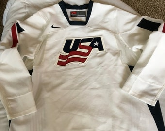 Nike Team USA hockey Jersey official IIFH size large sewn