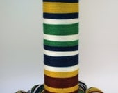 Ready To Ship: Self Striping Fingering Weight Sock Yarn, Wool and Nylon, 20 Color Stripe, Hand Dyed, House Colors