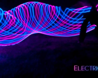 Sale - Free Shipping!!  Solid Color LED Hula Hoop - Midnight Rose