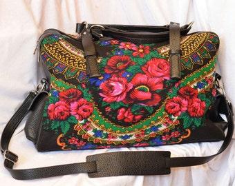 Russian Bag Russian Floral fabric Purse Evening Floral print Bag