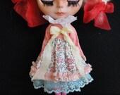 Easter & Spring 100% Cotton Dress for Blythe Doll