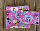Reusable Sandwich Bag and Snack Bag Combo, My Little Pony - Zipper Sandwich Bag