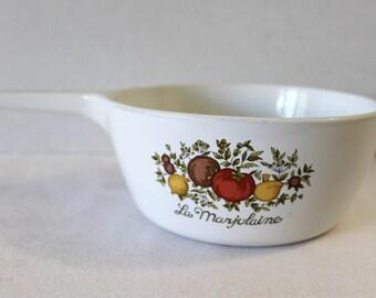 Vintage Corningware la Marjolaine No Lid 1 1/2 Pint