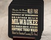 Milwaukee Wi Attractions / Milwaukee Wisconsin Coaster / Milwaukee Souvenir / Wisconsin Souvenirs Milwaukee/milwaukee Gift/milwaukee-lha-189