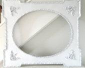 reserved for RAOllis -Vintage White Frame Shabby Chic Ornate Large