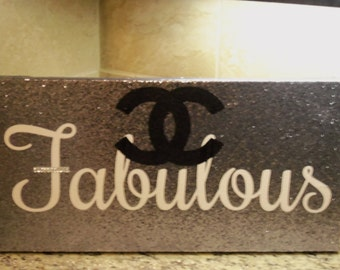 NEW!!!  French Inspired Hollywood Glam Glitzy Silver Surface FABULOUS Wall Art Wall Hanging