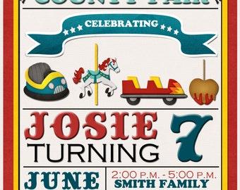 County Fair Birthday Invitation