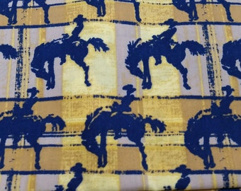 Wild West Bucking Bronco Fabric by the yard
