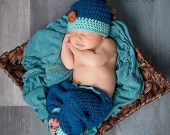 Newborn Beanie and Pant Set