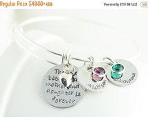 Valentines Day Gift Silver Bangle Charm Bracelet, Personalized Bangle Bracelet, Mother/Daughter Bracelet, Name Bracelet