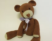 Teddy bear crochet pattern easy and fast toy crochet project
