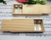 6 pcs Mini Glass Bottles Set in Wooden Box (Box Size: 17.5 x 7 x 3.5cm)
