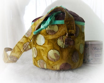 Round Bag, Round Purse, Lunch Tote, Round Carry All, Round Bag, Cotton Purse, Round Purse, Shoulder Bag, Cotton Purse