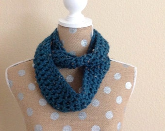 Toddler Infinity Scarf - Blue Tweed