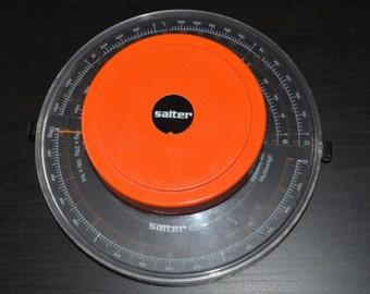 Vintage Bright Orange Salter System 80 321 Multiweigh Measuring Scales