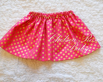 Pink and Gold Birthday SKIRT ONLY~ First Birthday set~ Shabby Chic Birthday Outfit~ Pink Gold Birthday~ Birthday~ baby girl, pink and gold
