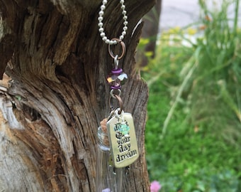 "OOAK Bottle Dream Charm Necklace, 18"""