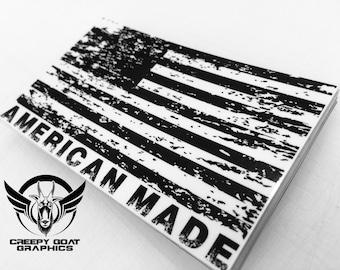 American Flag, American Made decal.