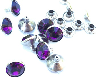 Genuine Swavoroski Crystal Rivets - Pack of 10 - see listing for sizes available