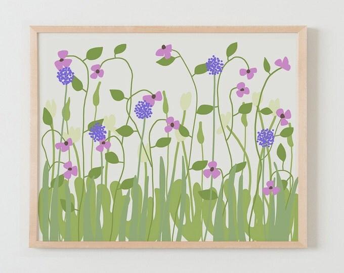 Fine Art Print.  Flowers in Garden 2.  February 2, 2016.