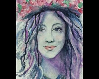 Self Portrait In Watercolor-Original