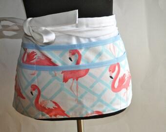 Teacher apron, Utility Apron, Women's Vendor Apron, Pink Flamingo Apron, Pink Flamingo teacher apron, Plus size teacher apron, vendor apron