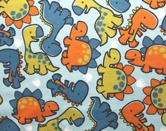 Snuggle Flannel Prints - Baby Dinosaurs - 35 inches