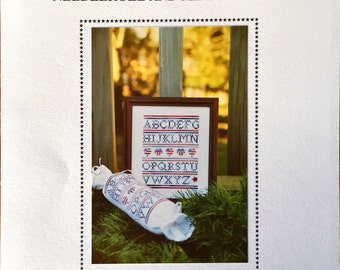 """Cross Stitch Pattern, """"Red, White, and Blue Needleroll and Mini-Sampler"""