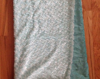 Super soft blanket - Soft Plush Swirl fur & minky backing