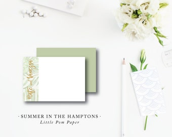 Flat A2 Stationery Notes with Blank Envelopes | Summer in the Hamptons Stationery | Printed by Darby Cards Collective