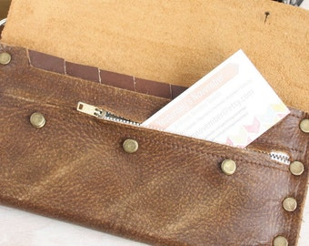 Zippered Coin Pouch Upgrade For Cash Envelope Wallet, This Is NOT A WALLET Only an upgrade for a wallet