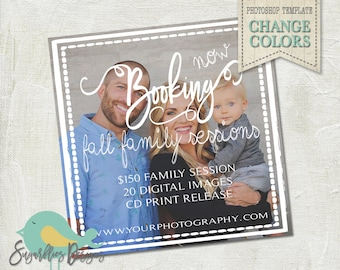 Family Sessions PHOTOSHOP TEMPLATE - Mini Photoshoot 33