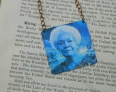 Reserved for Tracy Dr. Frances Cress Welsing necklace mixed media jewelry