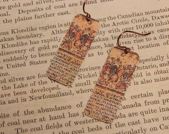 Homers Illiad earrings mixed media jewelry Literature jewelry