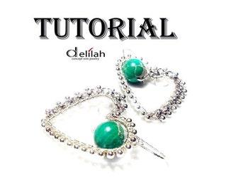 Heart Earrings Pattern Jewelry Tutorial PDF File Wire Wrapped Jewelry Tutorial Heart Tutorial Wire Wrap Tutorial Earrings Tutorial