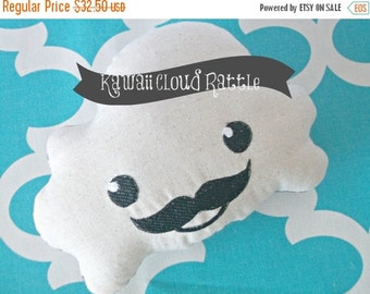 CHRISTMAS In JULY SALE Kawaii Mini Cloud Pillow - Cloud Rattle - Baby Rattle Toy