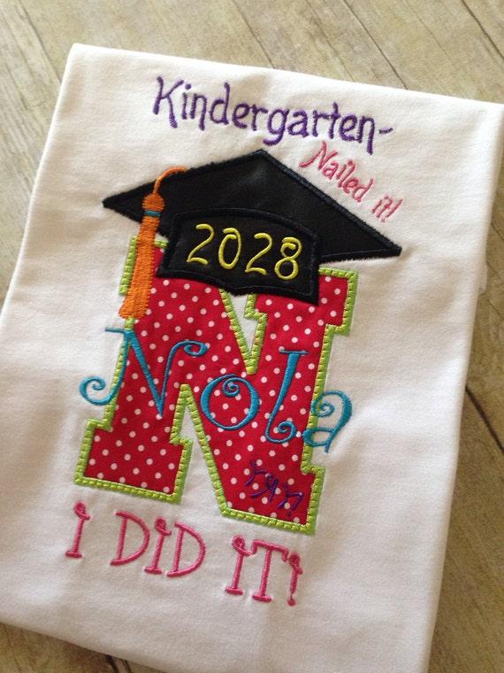 Kindergarten graduation shirt preschool graduation shirt for Personalized last name university shirts