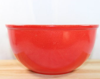 Vintage Red Fire King Mixing Bowl