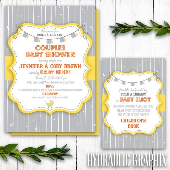 Build a library shower story book baby shower theme childrens il570xn filmwisefo