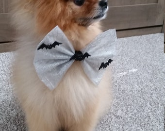 Batty Halloween Pet Bow
