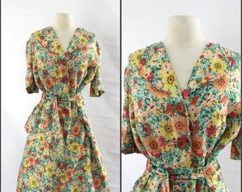Womens, 1960s, 1950s Day Dress, Large
