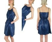 HACHE Dark Blue Nylon Dress