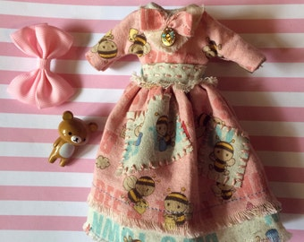 Blythe Dress Pink and Blue