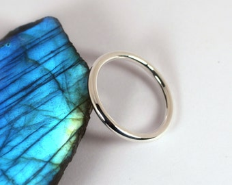 Smooth Silver Ring, Sterling Silver, Made to Order