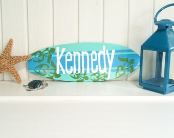 Custom Surfboard Wall Art for your Beach Theme Nursery Decor - 18 inch