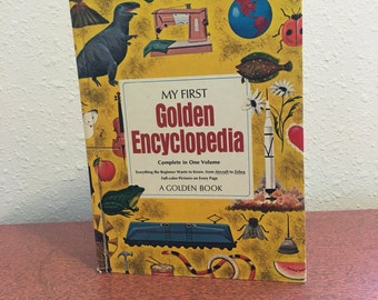 Vintage Book, My First Golden Encyclopedia, A Golden Book, Richard Scarry, Little Golden Book, Childrens Encyclopedia, Vintage Encyclopedia