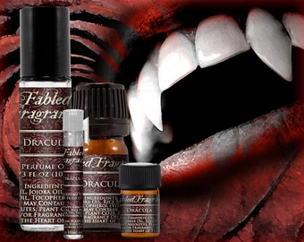 DRACULA - Perfume Oil with Lilac, Ylang Ylang, Dragons Blood, Musk, Amber, Styrax - VEGAN Solid Perfume, Vampire, Ships Out in 4-7 Days
