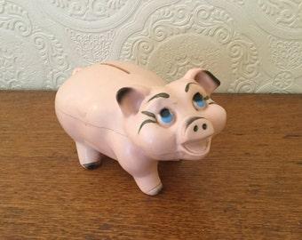 Vintage Plastic Piggy Bank,A.N.Brooks Corporation