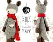 KIRA the kangaroo • lalylala crochet pattern / amigurumi